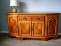 Sideboard in cherry wood W155 x D48 x H79 cm