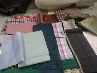 Mixed lot of fabric scraps