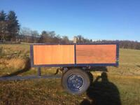 Trailer for compact tractor
