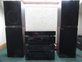 Complete Analogue Stereo System (Speakers x 2, Amp, Radio Tuner, CD & Cassette Decks)