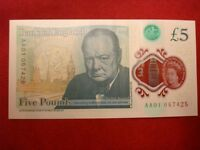 POLYMER 5 POUND BANK NOTE LOW SERIAL NUMBER