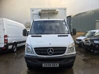 mercedes sprinter 511 box fridge van.2009.twin rear wheel.5 ton.upgrade leaf spring