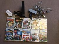 Wii console (black) 10 games & accessories
