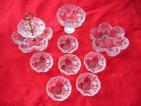 9 Piece Glass Fruit Set in pefect condition - no cracks or chips