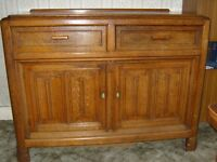 ANTIQUE UNIQUE HANDMADE SOLID OAK SIDEBOARD APPROX 1938 EXCELLENT CONDITION COLLECT BROMSGROVE WORCS