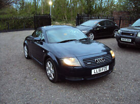 AUDI TT 1.8 T QUATTRO 225 BHP 4X4 3DR COUPE BLUE LEATHER SUEDE EXTRAS FULL SERVICE HISTORY LONG MOT