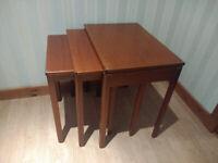 Teak McIntosh Nest of Tables - Solid Wood MCM Mid Century Modern Retro Vintage