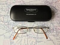 Unisex Specsavers Tortoiseshell Glasses 4620 Thin Frame Black Brown Lenses & CASE Mens Womens Small