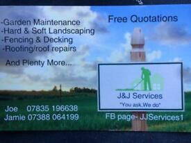 Roofer and landscaper available