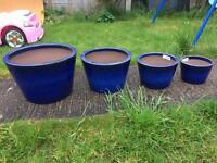 Stunning set of terracotta garden plant pots