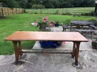 Dining Table Made of Solid Oak - Near Horsham, West Sussex