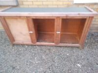 Wooden rabbit hutch for sale.has been used.