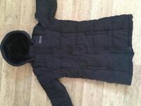 Age 7-8 yrs black Regatta girls coat - price inc P&P