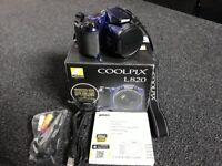 Coolpix L820 12MP Camera + Bag