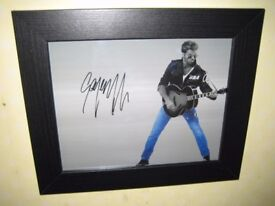 Signed Photograph of George Michael {Wham} With Certificate of Authenticity {8x10} Framed