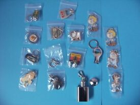 16x Assorted keychains.Ideal for Xmas cracker fillers. Some collectable.Never used.
