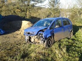 Vauxhall Meriva Life Twinport damaged, Salvage, useful for parts,