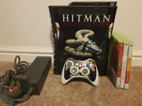 XBOX 360 PLUS WIRELESS CONTROLLER AND GAMES
