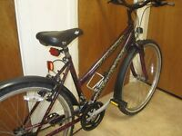 LADIES FALCON INTERCEPTOR BIKE 17 INCH FRAME IN GOOD CONDITION