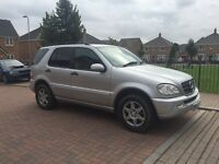 4x4 Mercades ML 320 lpg gas converted (48p per litre ) Automatic ,full leather ,Tow bar ,px welcome