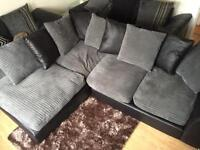 Corner sofa and cuddle chair, table and chairs for sale