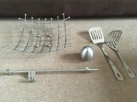 job lot of chrome kitchen items,£1.50