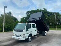 2007 Isuzu NPR Crew Cab Dump Truck 5.2 Diesel 14,500 LB GVWR Hitch Receiver