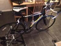 Claud Butler Echelon Road Bike AND Turbo Trainer