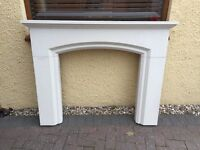 Stone/resin fire place surround for gas fire or similar