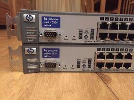 2x HP ProCurve 2824 24-port Gigabit managed switches (J4903A)