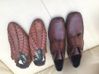 Rieker brown shoes and sandals- size 7