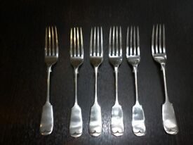 Vintage/antique cutlery (Bengal/Bombay silver, 1920s/30s)