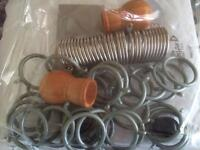 Mixture of Curtain Rings, Metal & Plastic Sets - Brand New £2