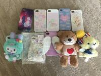 Kawaiii iPhone 4/4s 5/s cases, sticker and screen protector