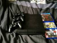 Ps4 500gb plus 3 working controller plus 3 games