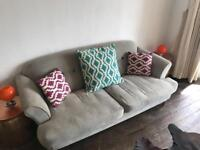 Sofa, matching arm chair and cushions