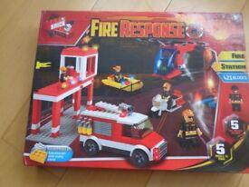 BNIB Brick By Brick (Lego) Fire Response Set