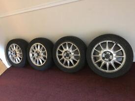 Ford Mondeo Mk1/Mk2 16'' Alloy Wheels & 4 Good Tyres, 4 Stud, 1993-2000