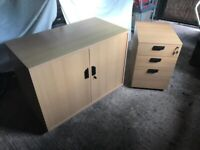 Good quality filing cabinet and storage cupboard - PRICE DROPPED. Must go - need space!