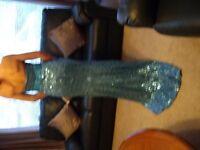 Aqua Marine Sequin fish tail dress