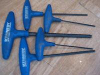 t handle allen keys 2.5mm,3,4,5 and 8mm