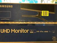 "Samsung 4k monitor 28"""
