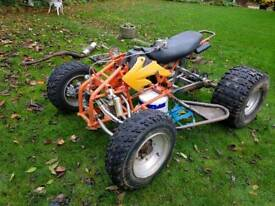 X-sport fym typhoon quad frame spares or repair quad wheels tyres