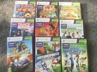 Xbox 360 C/W Kinect and 28 Games