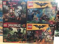 Lego ninjago and batman sets, sealed and new
