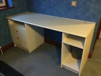 White desk storage unit with drawers by Magnet