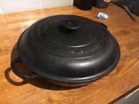 Black Le Crueset 30cm shallow casserole