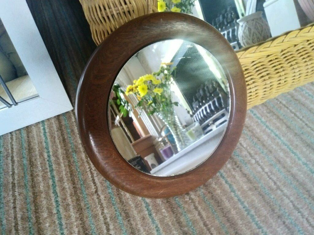 Wall Mirror Small Round Wood Framed Shaving Makeup Lot In Trinity Edinburgh Gumtree