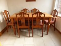 Solid pine dining/kitchen tables and chairs