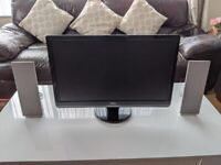 24 inch DELL monitor FULL HD with speakers
